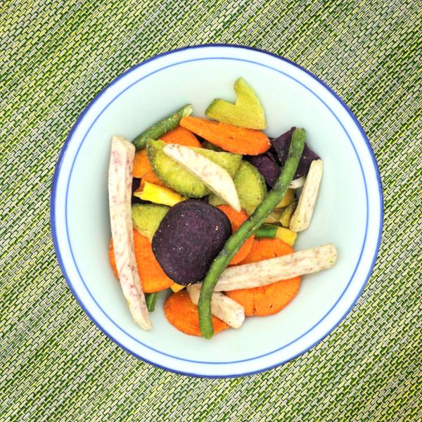 Healthy vegetable crisps chips