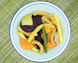 vegetable and soy crisps