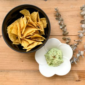 Corn Chips with Avocado Dip